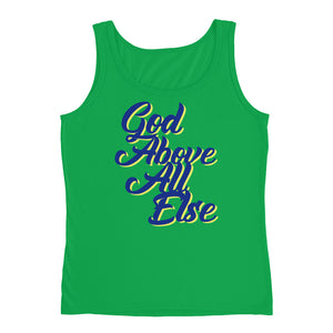 Women's God Above All Ladies' Tank - Armor of God Apparel L.L.C.