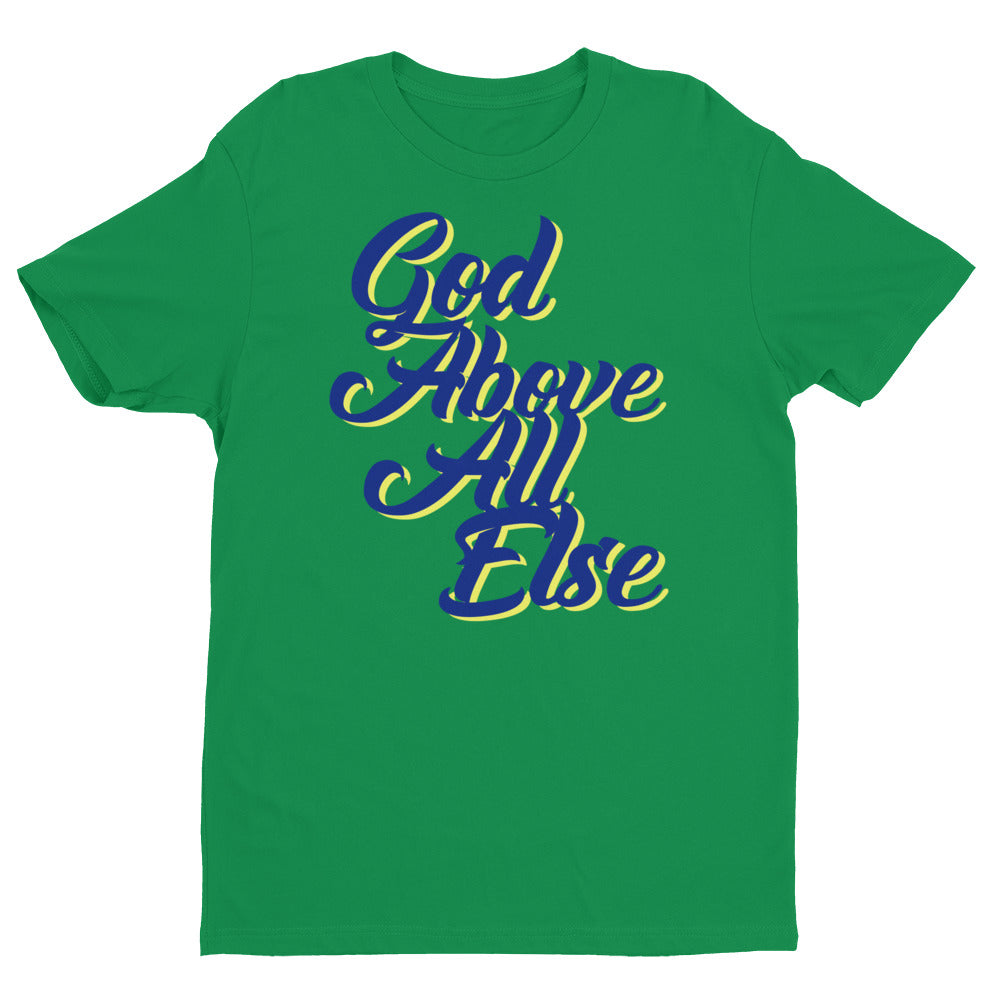 Men's God Above All Short Sleeve T-shirt - Armor of God Apparel L.L.C.