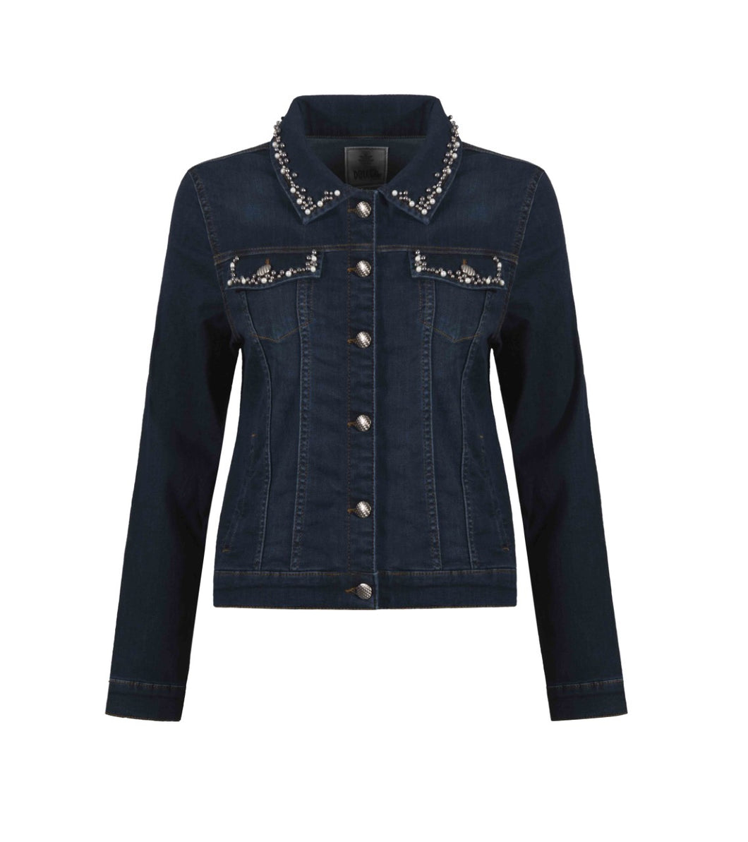DOLCEZZA JEAN JACKET WITH EMBELLISHMENTS