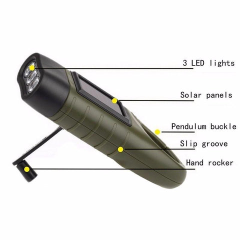 Image of Hand Crank Flashlight