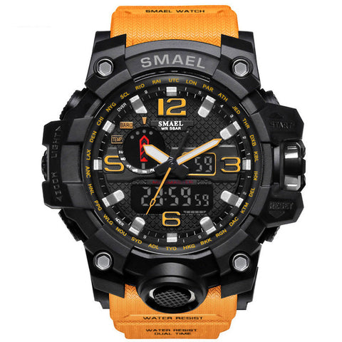 50m Waterproof Men Military Wristwatch