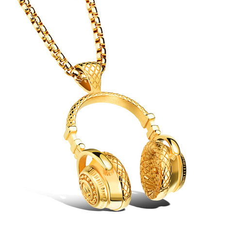 Image of HIP HOP HEADPHONE NECKLACE