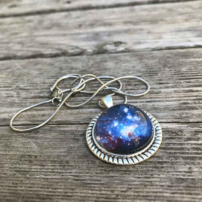 Blue Nebula Necklace