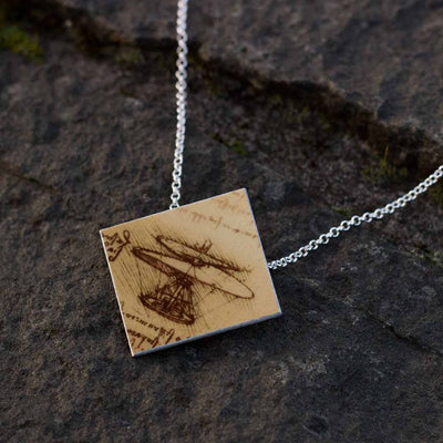 Leonardo da Vinci's Flying Machine Necklace