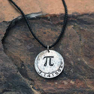 Pi to 35 Decimals Necklace - Silver
