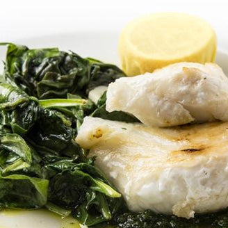 Deluxe white fish<br>& spinach
