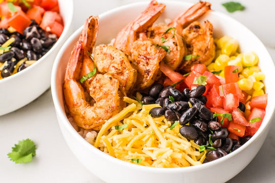 Mexican Shrimp Taco Bowl with Rice  <small> Lean Gain Diet </small>
