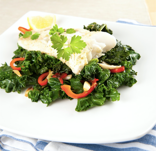 Deluxe White Fish & Kale <small> Low Carb Keto Meal </small>