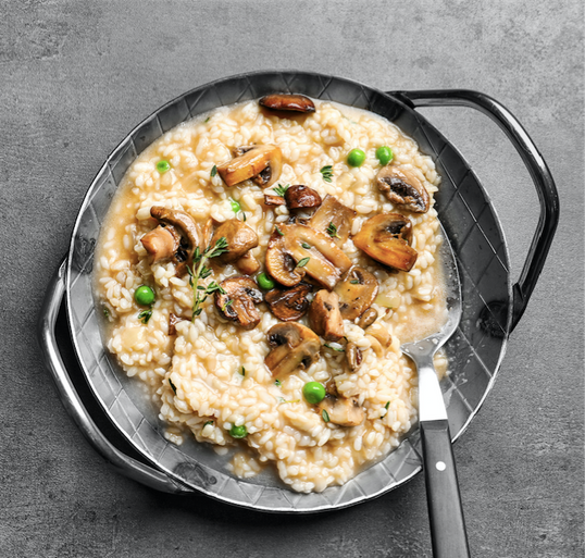 Grand Three Cheese Mushroom Risotto
