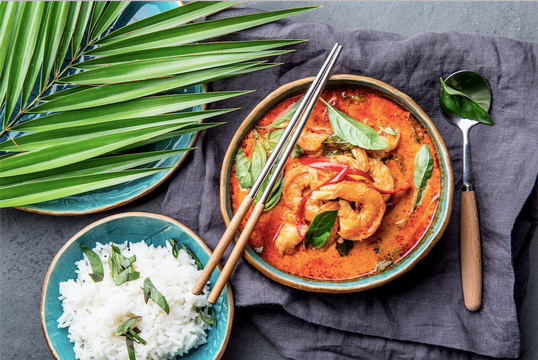 Red Thai Curry Shrimp with Coconut Jasmine Rice & Vegetables