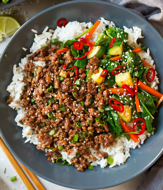 Korean Beef & Rice Bowl