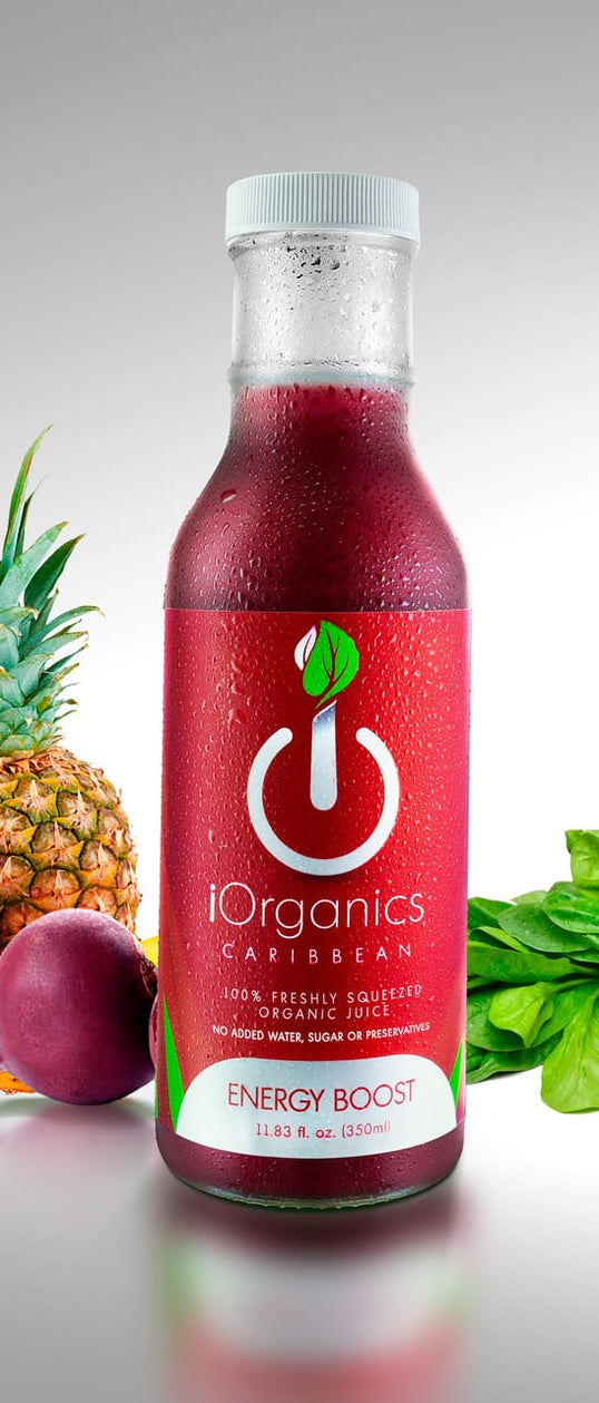 Energy Boost Beet Carrot Banana - iOrganics 100% Cold-Pressed Juices