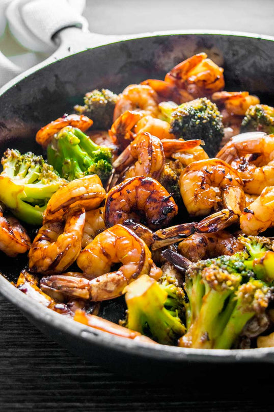 Plum Shrimp and Broccoli <small> Low Carb Keto Meal </small>