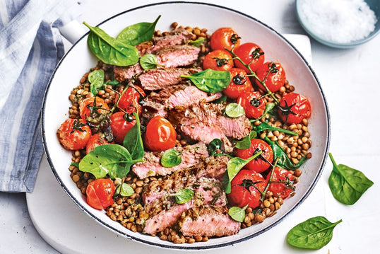 Rosemary Sliced Lamb with Israeli Cous Cous