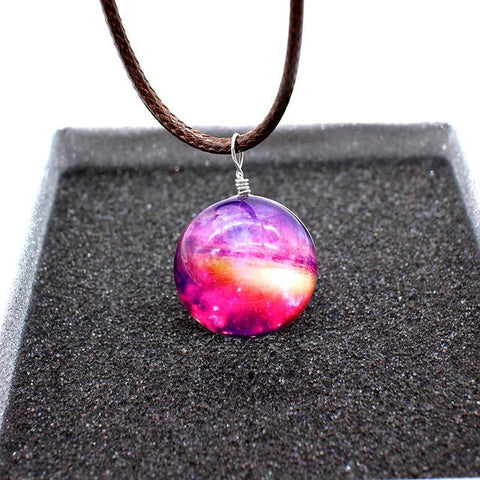 Leather Galaxy Necklace