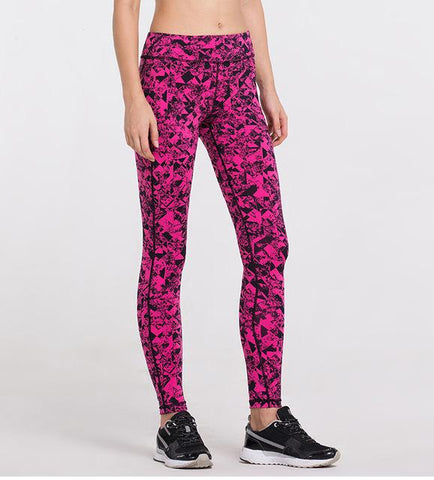 Pink Speckle - High Rise Comfort Stretch Yoga Pants