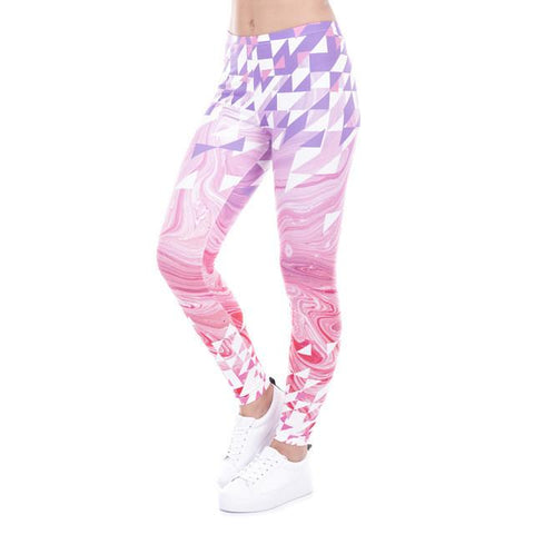 Pink and Purple Triangle Leggings
