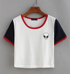 Alien Pocket T-Shirt - White, Black, and Red