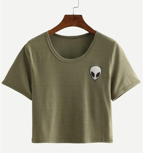 Alien Pocket T-Shirt - Olive Green