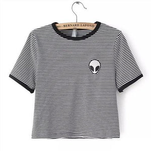 Alien Pocket T-Shirt - Striped