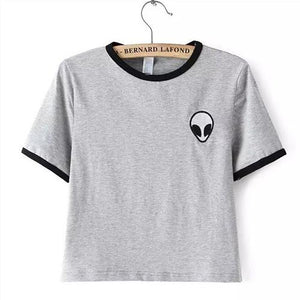 Alien Pocket T-Shirt - Grey and Black