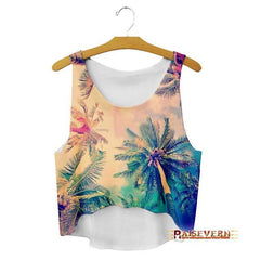 Palm Trees Crop Top