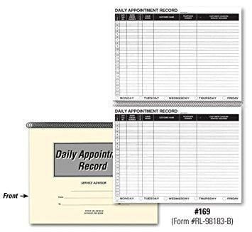 Auto Repair Appointment Schedule Books