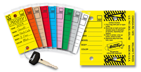 Self Laminating Key T Auto Dealer Key Tags Versa Tags Key Tags