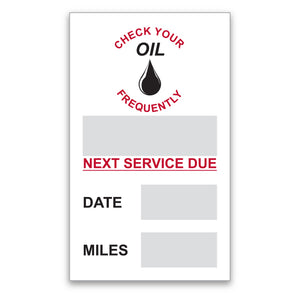 Oil Change Static Cling Stickers | US Auto Supplies