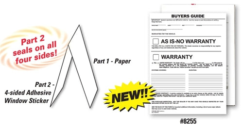 Buyers Guide Window Sticker | US Auto Supplies