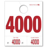 Numbered Mirror Hang Tags | US Auto Supplies