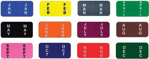 Color Code File Labels From US Auto Supplies