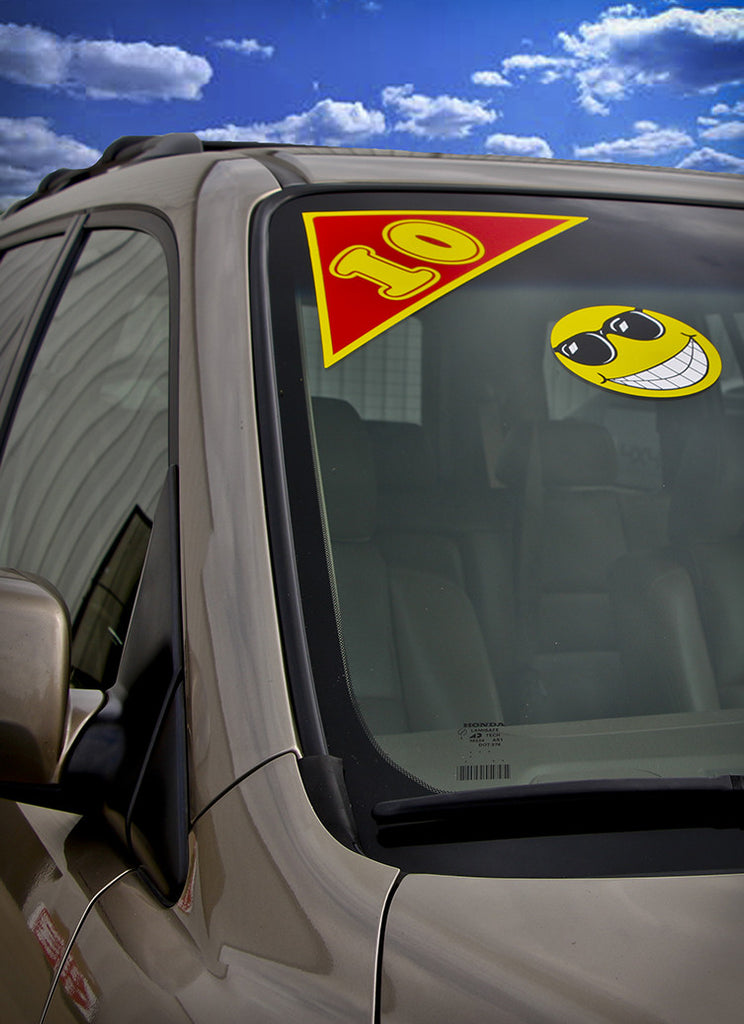 Year stickers for cars red and yellow