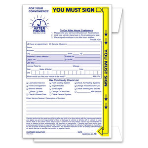 Night Drop Envelopes From US Auto Supplies