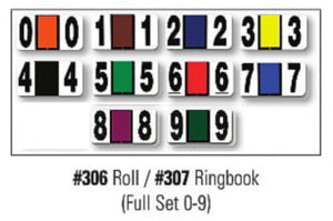 dealer supply I Color Code Filing Numbers SET | US Auto Supplies