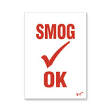 Smog OK Windshield Inspection Sticker | US Auto Supplies