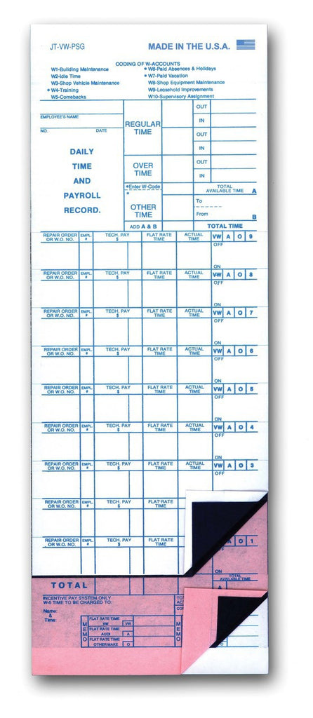Mechanic time Sheets | US Auto Supplies