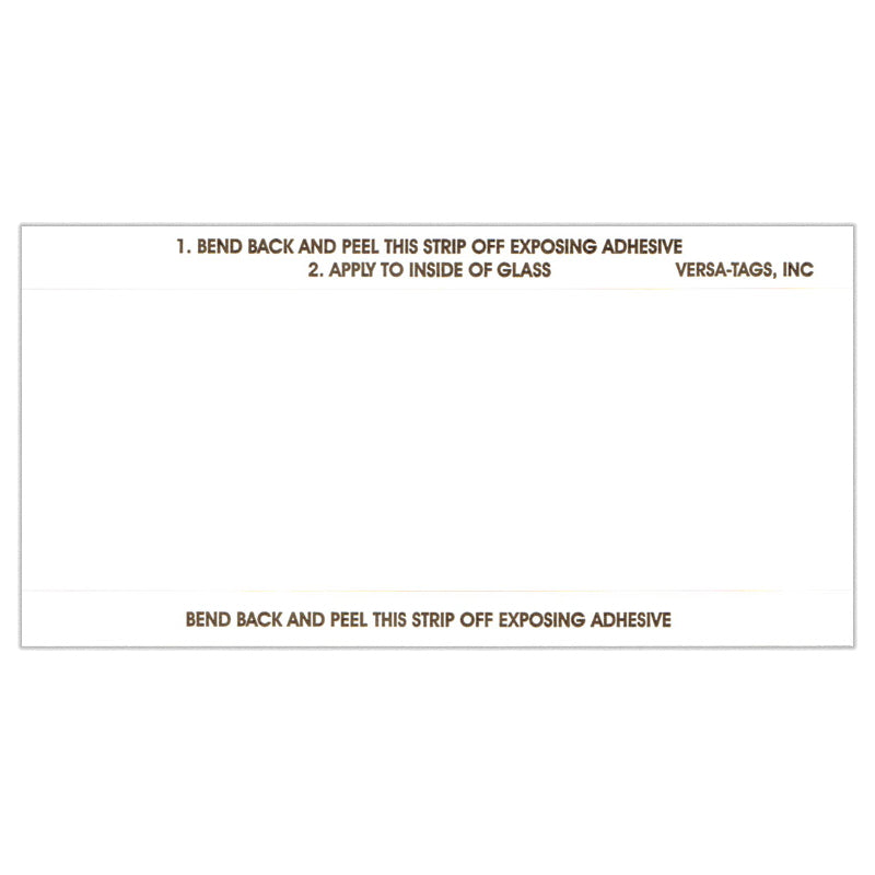 Blank White Stock Sticker | US Auto Supplies