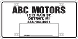 Temporary License Plate Tag - US Auto Supplies