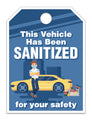 Vehicle Sanitized Mirror Hang Tags - US Auto Supplies