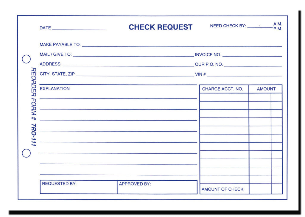 Check Request Forms