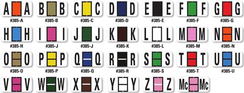 dealer supplies I Color Code Filing Alphabet labels - US Auto Supplies