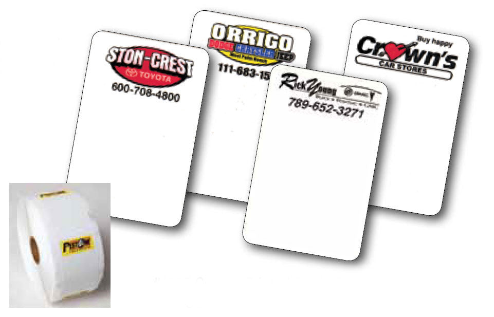 Custom Oil Change Stickers | US Auto Supplies