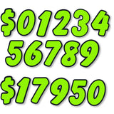 Windshield Number Stickers - US Auto Supplies