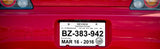 Tear Resistant Plate Tags | US Auto Supplies