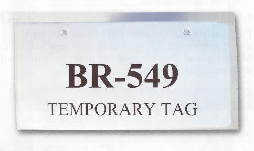 Temporary Tag Covers | US Auto Supplies