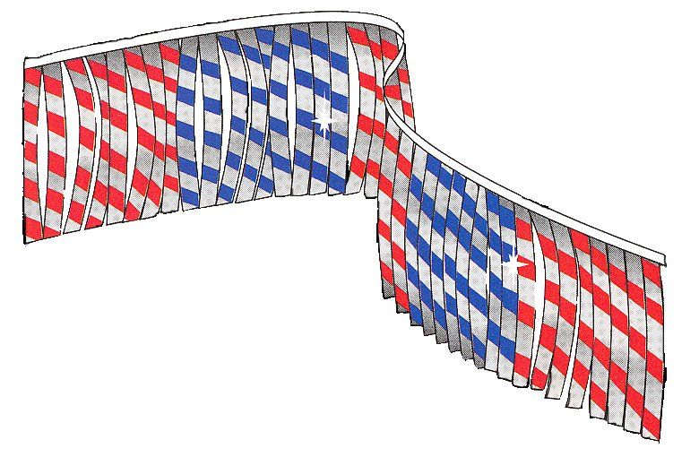 Patriotic metallic Leaf Pennants | US Auto Supplies