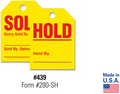 Sold Hold Mirror Hang Tags - US Auto Supplies