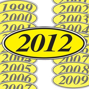 Car Year Stickers In Black And Yellow | US Auto Supplies
