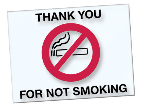 No Smoking Window Decals | US Auto Supplies